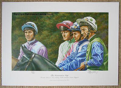 The Generation Gap Print  Dettori Eddery Piggott Carson Horse Racing Picture