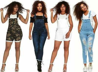 VIP Casual Blue Jean Bib Strap Pocket Overalls Jeans For Wom