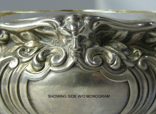 Lot of 2 Early Gorham Sterling Silver Open Salt Cellars #A5553 & #A1016 w/ Mask