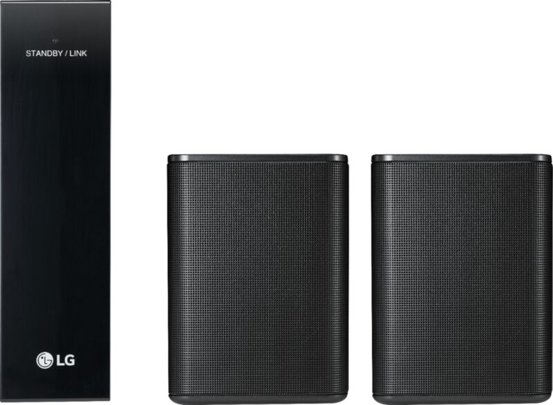 LG Powered Wireless Rear Channel Speakers (Pair) works with select LG soundbars Black SPK8-S