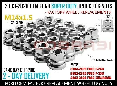 32 Pc Ford F-250 F-350 Super Duty M14x1.5 Chrome Factory Style Lug Nuts USA