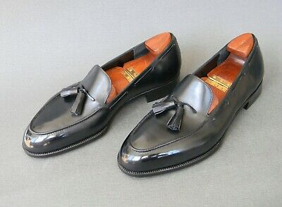 John Lobb LTD Bespoke Black Calf Leather Tassel Loafers 10.5UK 11.5US
