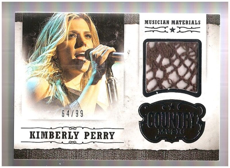 Kimberly Perry 2015 Country Music Musician Materials Silver 64/99 Patch BV $60