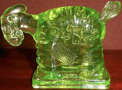green Vaseline glass Spark Plug Barney Googles Donkey uranium / cartoon TV show