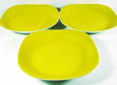 "BLOCK Langenthal Transition EVOLUTION YELLOW Coupe SOUP BOWLS 8"" - Set of 3"