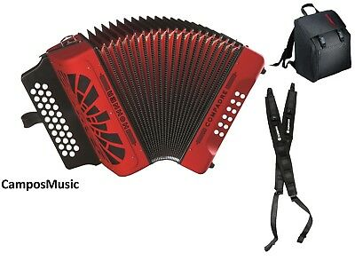 Hohner Compadre RED EAD  / MI  Accordion  Acordeon w/Gig Bag