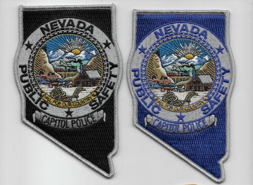 Set Black & Blue State Nevada Capitl Police State Shaped NV NEW