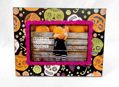 Kohl's Celebrate Halloween Together Day Of The Dead Glittered Wooden Picture Fr