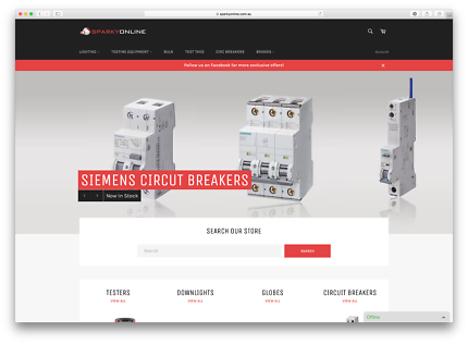 Online Electrical Store For Sale