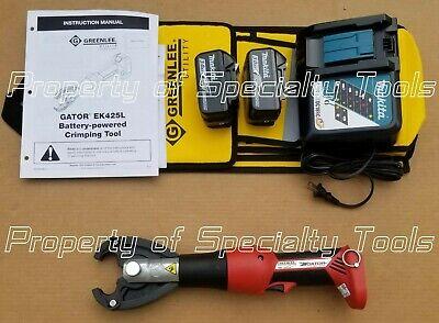 Greenlee Gator Ek425l Battery Hydraulic Crimper Cjd3 Jaw 6 Ton Crimping Tool