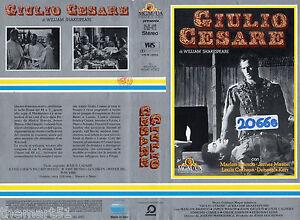 Giulio Cesare (1953) VHS Warner Br. 1a Edizione - Marlon Brando - Italia - L'oggetto può essere restituito - Italia