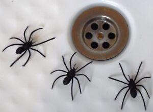 3 Fake Joke Spiders - Great Joke Prank Scary Trick April Fool - Very Realistic