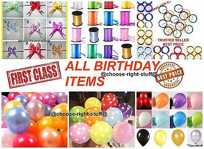 10-100 Pearlised Metallic Balloons For Birthdays Party Wedding Helium Gas Baloon](Gas For Balloons Party)