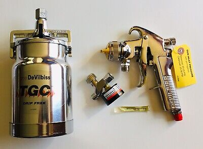 Devilbiss Gti-600s-100 Suction Pressure Feed Spray Gun Cup Regulator New