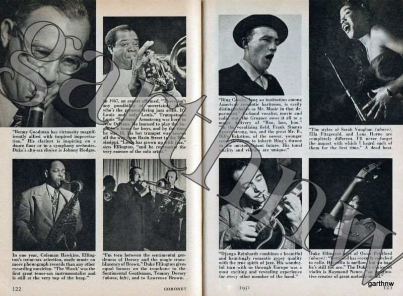 DUKE ELLINGTON SELECTS 1951 BEST IN JAZZ PICTORIAL DJANGO REINHARDT + 10 MORE