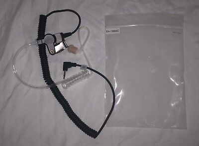 """Pryme EH-1369SC 2.5mm Acoustic Tube Listen Only Earpiece with 15"""" Coiled Cord"""