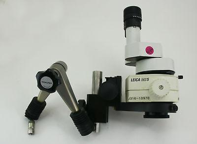 10970 Leica Stereo Microscope W Eyepiece 25x9.5b Obj Lens Brkt Holder Ms5