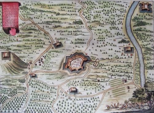 Brazil, Recife, Arraial do Bom Jesus,  Commelin / Janssonius, 1652, Fort Real