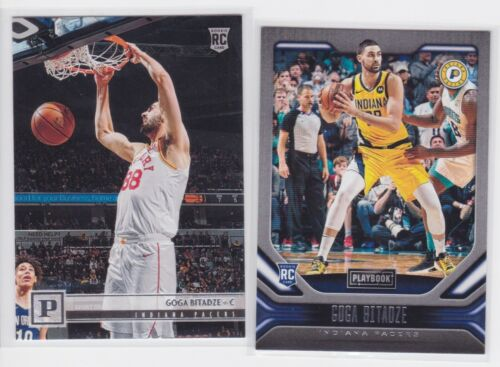 2019-20 PANINI CHRONICLES INDIANA PACERS GOGA BITAZDE RC LOT X2 PLAYBOOK