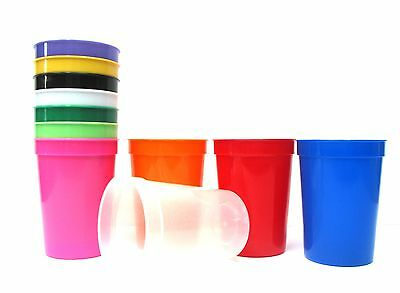 12  Small 12 Oz Plastic Drinking Glasses., Choice 11 Colors Mfg USA, Lead Free  - Small Plastic Glasses
