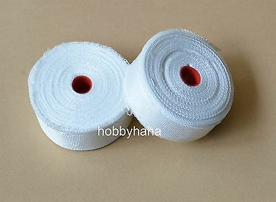 2 Rolls Fiberglass Cloth Tape E-glass Wide 25mm 30m Long Fiber Plain Weave