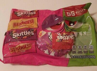 CAULDRON Skittles STARBURST Reds FUN Size 55 PIECES 22.7oz Party FAVOR Bag 08/20