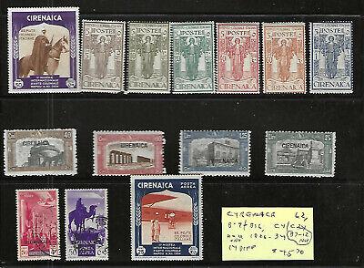 CYRENAICA Classics...#62; B7-12; B13-16; C4/24...M & U...1926/34...SCV $45.70