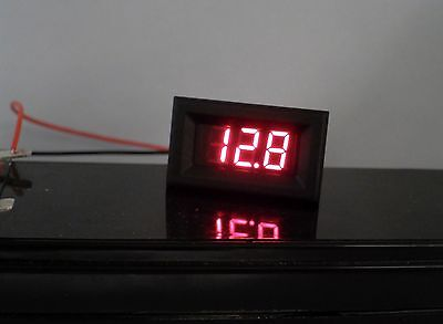 3 Digit Dc Battery Voltage Meter Voltmeter 2.5v To 30v Led Digital Panel Display