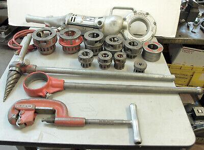 Ridgid 700 Pipe Threader Machine Set 9 Diesmanual Threader Ream Pipe Cutter