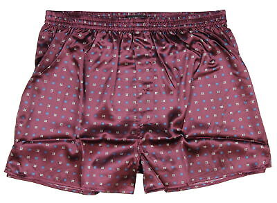 Intimo Mens Boxers Polycharm Boxer Briefs Underwear Red Large