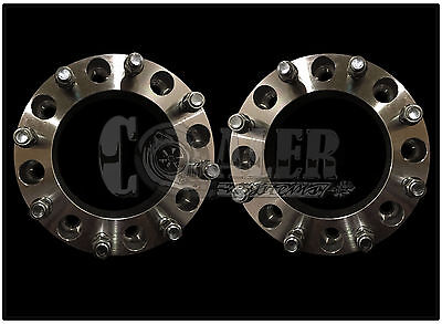 Set Of 2 Skid Steer Wheel Spacers 2 - 8 Lug Bobcat Case John Deere Cat Terex