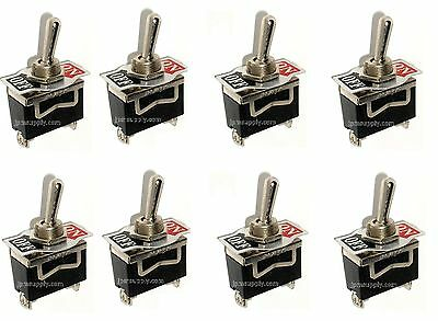 8 Spst Onoff Toggle Switches 20amp 12 Mount
