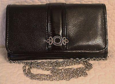 Black Bright Leather Handbag - Brighton Black Leather/Patent BRIGHT SPARKS Crossbody Handbag NWT