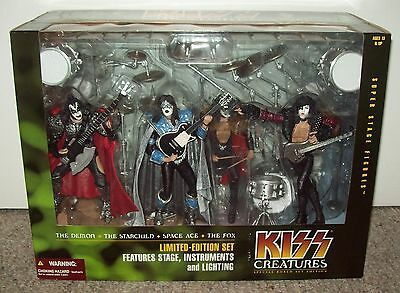 KISS Box Set 2002 Creatures of the Night Stage & Figures MISB McFarlane Toys