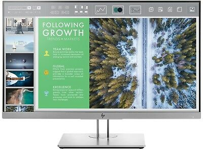 "HP EliteDisplay E243 24"" LED LCD Computer Monitor 5MS FHD 1080P 16:9 HDMI DP IPS"