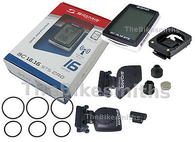 SIGMA BC16.16 STS CAD Wireless Bike Cycle Computer Cadence Speedometer Backlit Wireless Cadence Cycle Computer