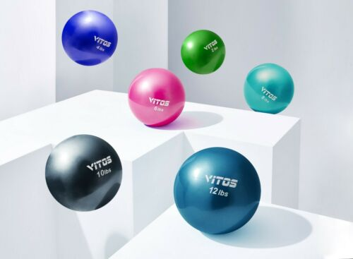 Vitos Fitness Toning Soft Weighted Mini Ball | Medicine Ball Core Training Yoga