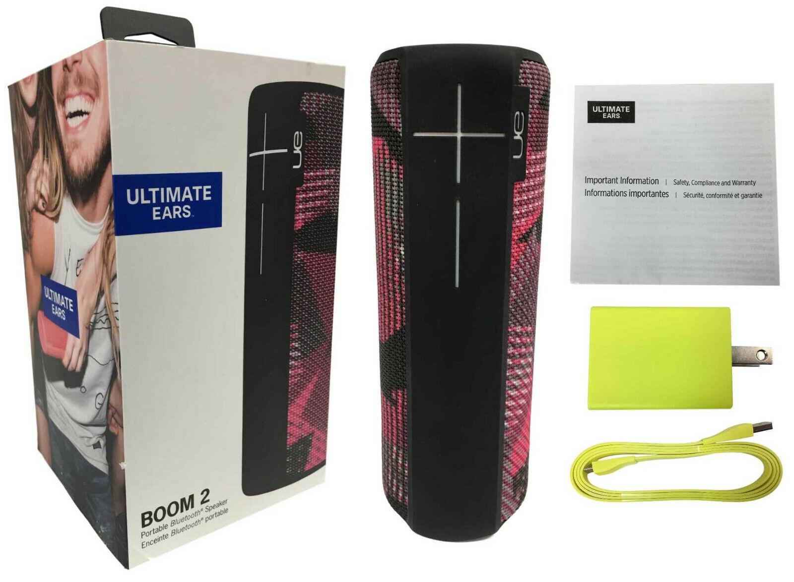 Ultimate Ears UE Boom 2 Bluetooth Waterproof Portable Speaker Twilight Magenta