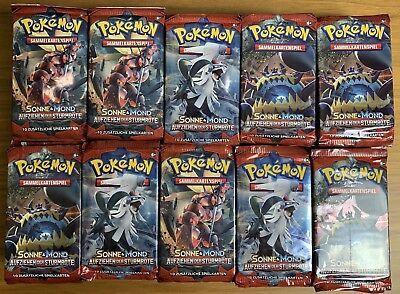 Pokemon Booster 100 Stück Aufziehen Der Sturmröte DE NEU OVP