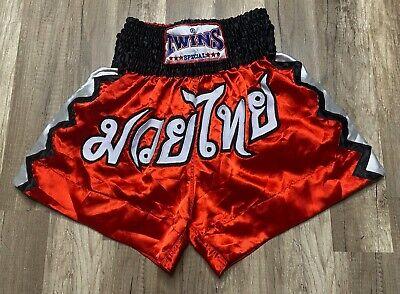 Thaiboxen MMA Satain Kickboxen Shorts no Fear Auch für K1 Twins Muay Thai
