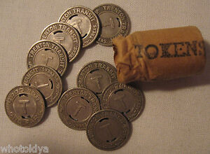 Trenton New Jersey Transit Tokens Lot Good For Jewelry Selling Huge Collection