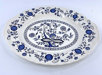 Enoch Wedgwood Tunstall LTD Blue Heritage Oval Serving Platter 14.5 x 11.5