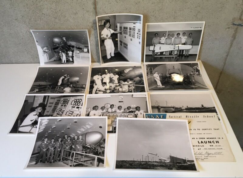 Lot of 11 - 1963 Air Force Missile Test Center Photos UNCLASSIFIED - + Crew Cert