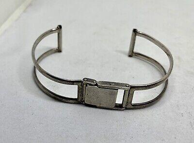 Vintage Custom Made Sterling Silver Wristwatch Bracelet Very Unique Custom Made Sterling Silver Bracelet