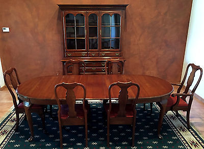 1950's Pennsylvania House Dining Room Set - Queen Anne -  Solid Cherry - 12 Pcs