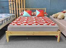 MODERN WOODEN Double bed & mattress - SOLD, WHITE COLOR AVAILABLE Belmont Belmont Area Preview