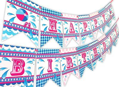 appy Birthday Banner Pool Party Pennant (Pool-party Banner)