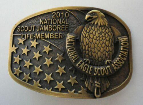 2010 National Scout Jamboree NESA Lifetime Member Belt Buckle - Eagle Scout