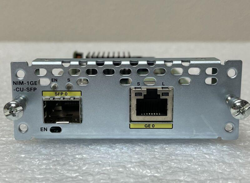 Cisco NIM-1GE-CU-SFP 1-Port GE/SFP for ISR 4000 and 4300 Series