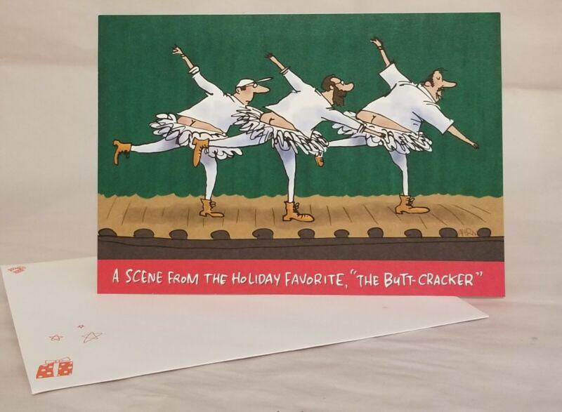 Christmas Card Hallmark Shoebox Funny Christmas Card THE BUTT CRACKER Cute